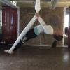 Flying inverted Salabasana